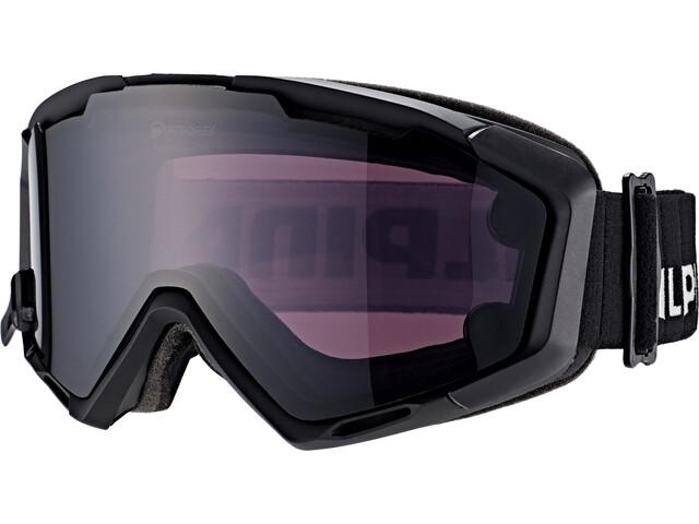 Alpina Panoma Magnetic Q+S S1+S3 Gafas de esquí, black matt/black